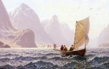 Regatta on a Norwegian Fiord | Hans Dahl | oil painting