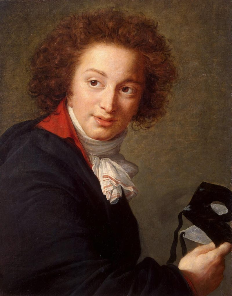Portrait of Count Grigory Chernyshev with a Mask in His Hand   Vigee Le Brun Elisabeth-Louise   oil painting