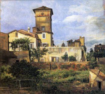 Scene of the Villa Malta | Johan Christian Dahl | oil painting