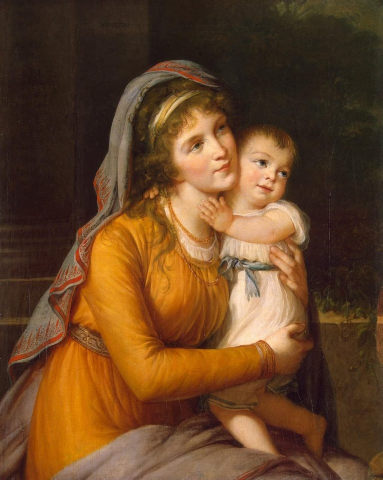 Portrait of Countess Anna Stroganova with Her Son | Vigee Le Brun Elisabeth-Louise | oil painting