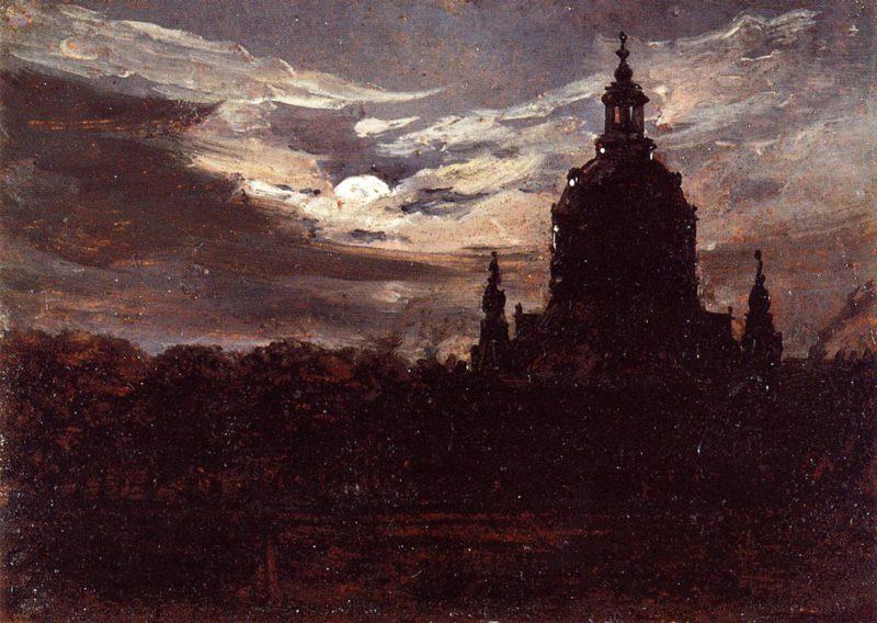 The Frankenkirche Dresden | Johan Christian Dahl | oil painting