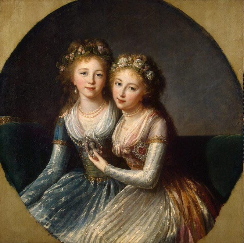 Portrait of Emperor Pavel Is Daughters | Vigee Le Brun Elisabeth-Louise | oil painting