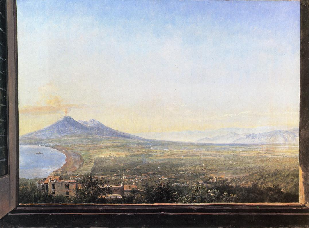 View from a Window at Quisisana Painting | Johan Christian Dahl ...