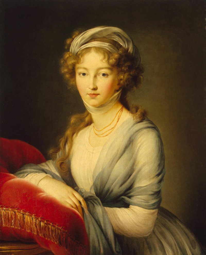 Portrait of Empress Yelizaveta Alekseyevna   Vigee Le Brun Elisabeth-Louise   oil painting