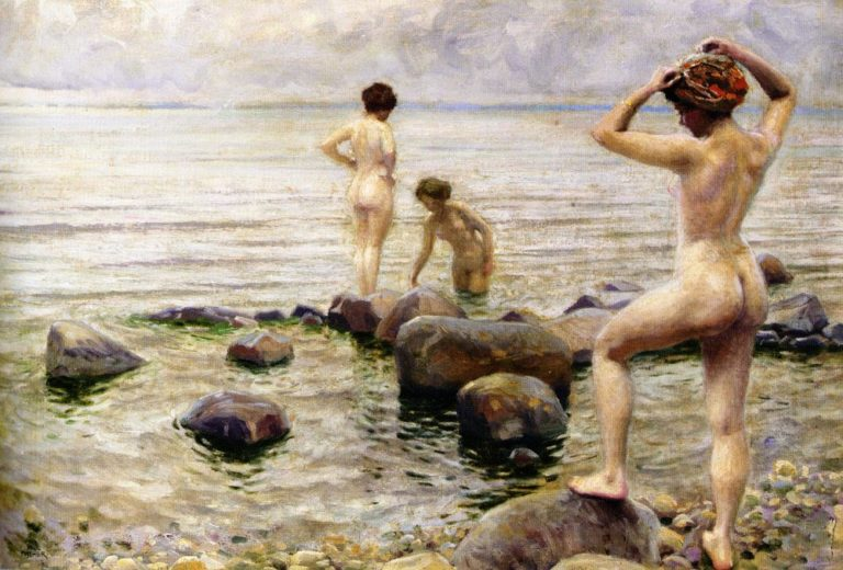 A Morning Dip | Paul Gustave Fischer | oil painting