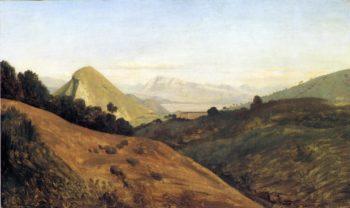 Italian Hills at Dawn | Theodore Caruelle d'Aligny | oil painting