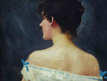 Portrait of Lady | Paul Gustave Fischer | oil painting