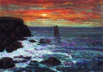 Sailboat at Sunset | Victor Charreton | oil painting