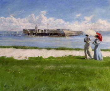 The Conversation Helgoland | Paul Gustave Fischer | oil painting