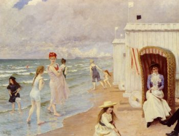 The Day at the Beach | Paul Gustave Fischer | oil painting