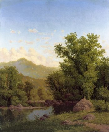 Spring Landscape along a River | Charles Harry Eaton | oil painting