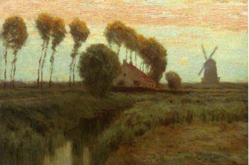 Moonrise Holland | Charles Warren Eaton | oil painting