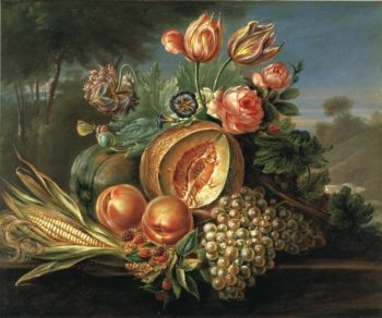 Still Life with Fruit and Flowers | Cornelius de Beet | oil painting