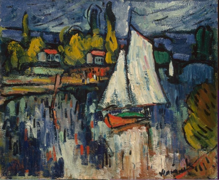 View of the Siene | Vlaminck Maurice de | oil painting