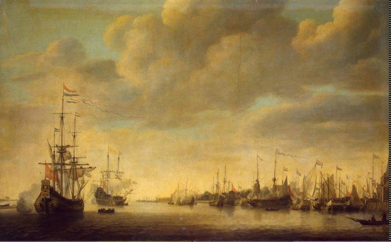 Arrival of William of Orange in Rotterdam | Vlieger Simon de | oil painting