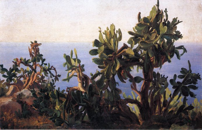 Study of a Prickly Pear   Thomas Fearnley   oil painting