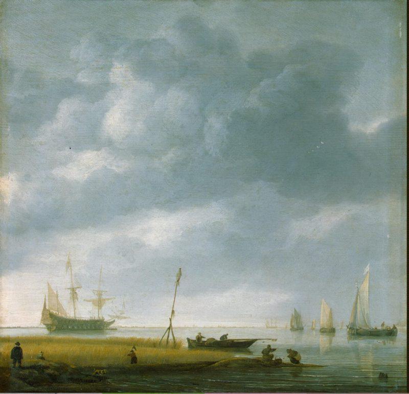 Seashore   Vlieger Simon de   oil painting