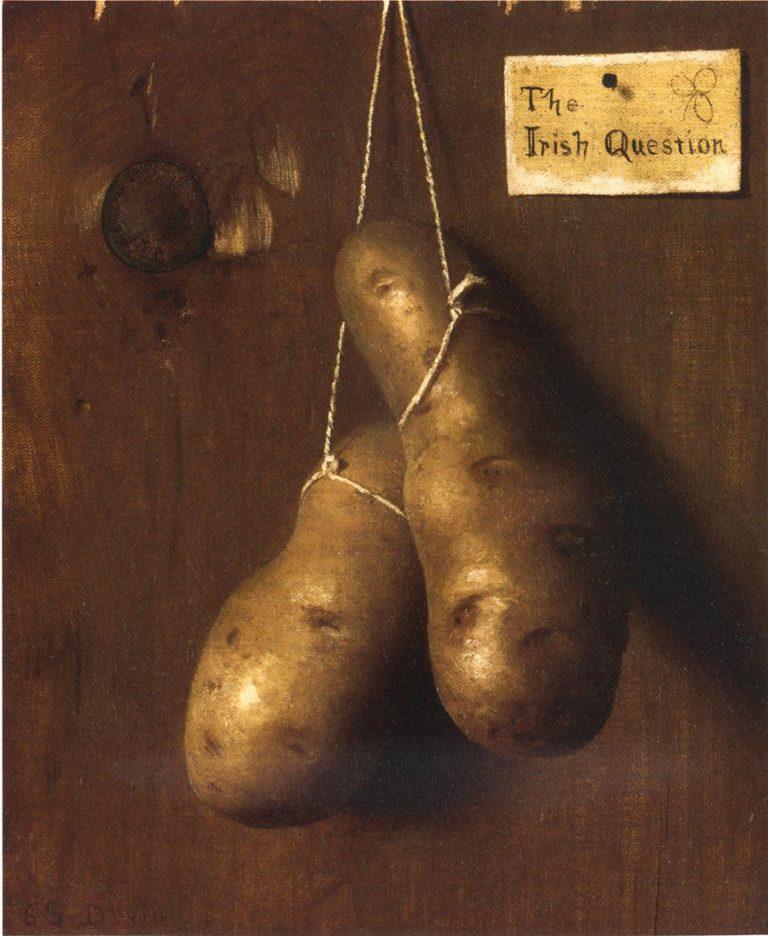 The Irish Question | De Scott Evans | oil painting