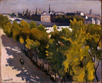 Louvre Embankment and the New Bridge | Marquet Albert | oil painting
