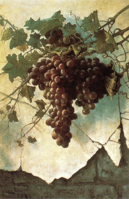 Grapes against a Mission Wall | Edwin Deakin | oil painting