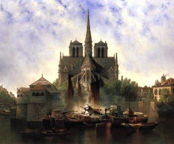 Notre Dame Paris | Edwin Deakin | oil painting