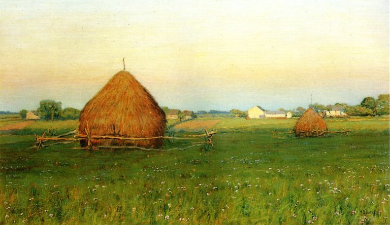 Landscape with Haystacks | Henry Golden Dearth | oil painting