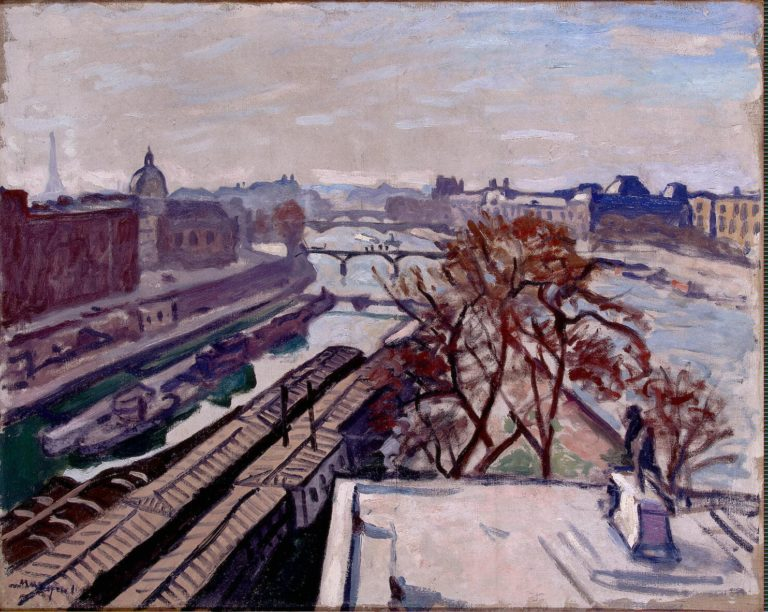 View of the Seine and the Monument to Henry IV | Marquet Albert | oil painting