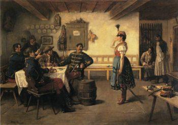 The Flirt | Koloman Dery | oil painting