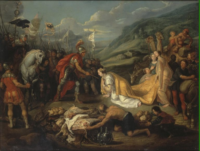Abigail Bringing Gift to David | Vos Simon de | oil painting