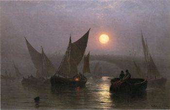 Battersea Bridge London | Charles Henry Gifford | oil painting