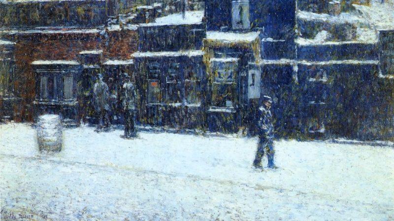 Messinger Boy   Frederick Childe Hassam   oil painting