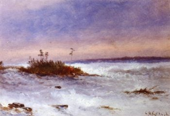 Choppy Water Possibly Niagara New York | Charles Henry Gifford | oil painting