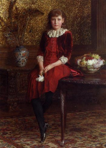 Mabel Daughter of Charles Galloway | Edward John Gregory | oil painting