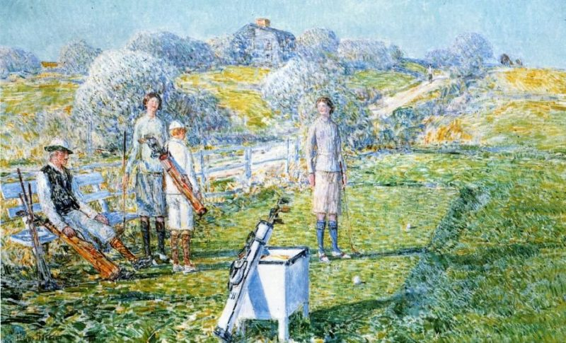 Mixed Foursome | Frederick Childe Hassam | oil painting