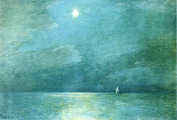 Moonlight on the Sound | Frederick Childe Hassam | oil painting