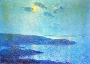 Moonlight Scene | Frederick Childe Hassam | oil painting