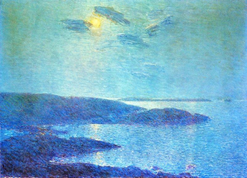 Moonlight Scene   Frederick Childe Hassam   oil painting