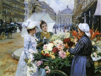 The Flower Seller | Louis Marie de Schryver | oil painting