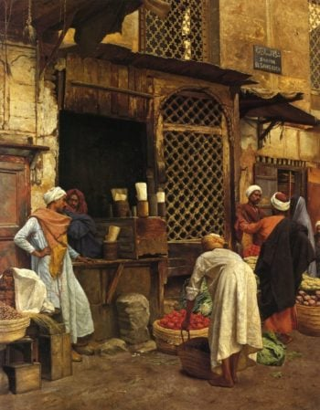 Sharia El Sanadkyeh | Ludwig Deutsch | oil painting