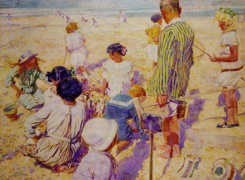 In the Sun   Frans Gaillard   oil painting