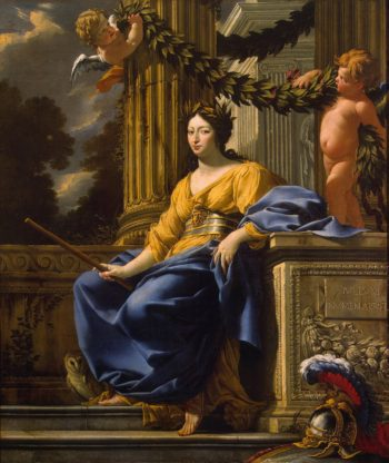 Allegorical Portrait of Anna of Austria as Minerva | Vouet Simon | oil painting