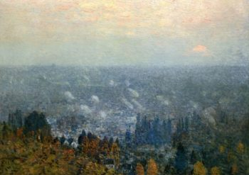 Mount Hood and the Valley of the Willamette | Frederick Childe Hassam | oil painting