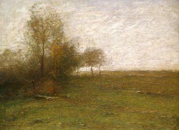 Landscape at Feu de Broussailles | Paul De Longpre | oil painting