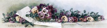 Pansy Waltz | Paul De Longpre | oil painting