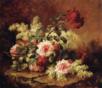 Roses and Mahogany | Paul De Longpre | oil painting