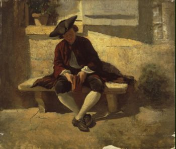 Young Man with a Book | Meissonier Jean Louis Ernest | oil painting