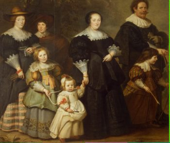 Self-Portrait of the Artist with his Wife Suzanne Cock and their Children | Vos Cornelis de | oil painting