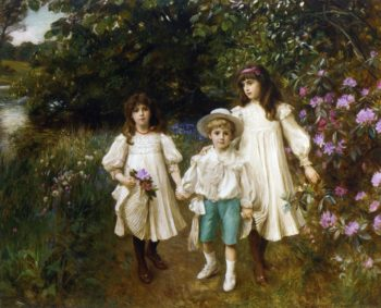 Meriel Cynthia and George Perkins | George Harcourt | oil painting