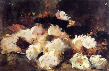 A Still Life With Roses | George Hendrik Breitner | oil painting