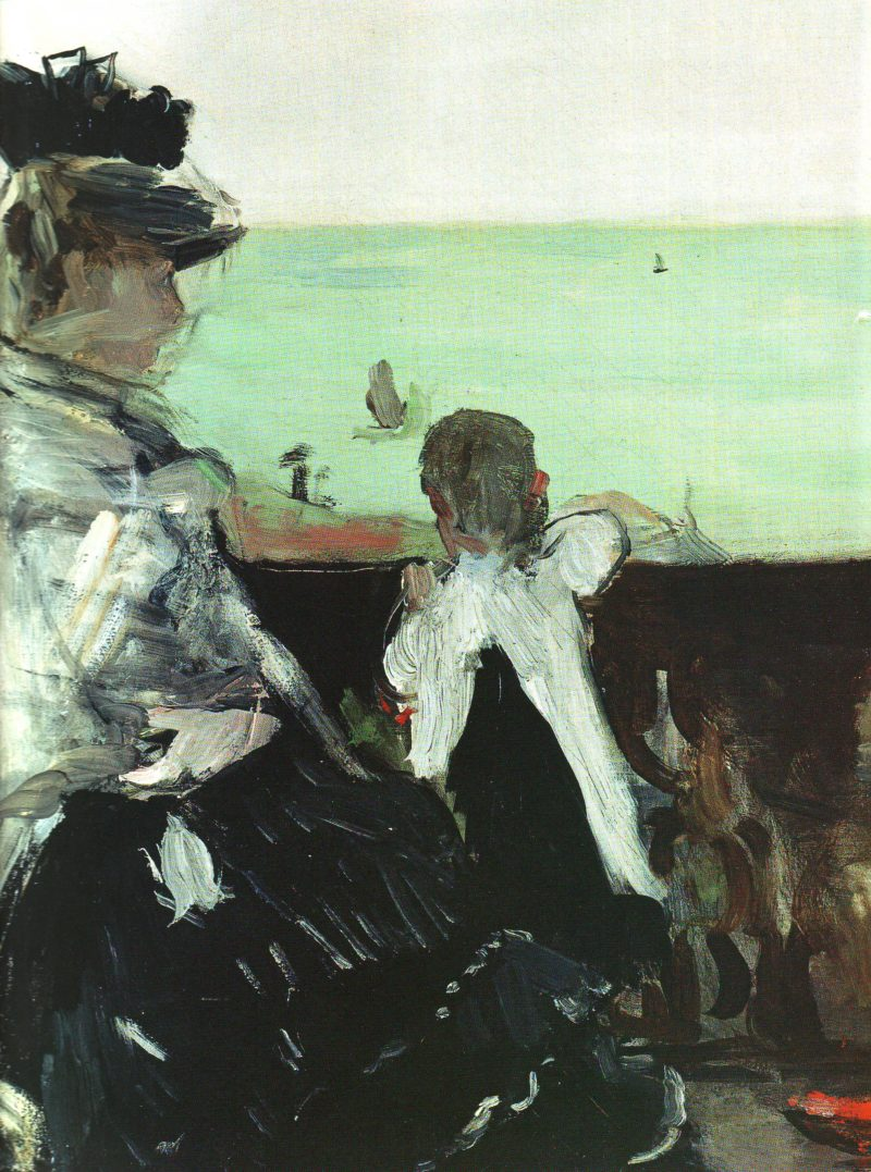 In a villa at the seaside | Berthe Morisot | oil painting